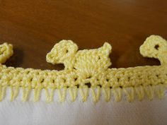 Ducky Crochet Edging                                                                                                                                                     More
