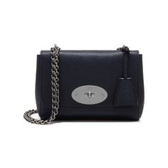 Shop the Lily in Midnight Small Classic Grain Leather at Mulberry.com. The Lily is an effortlessly elegant style often chosen as an evening bag due to its versatile size and compact shape. The Lily has a woven leather and chain strap that can be worn short or long, and is finished with signature details such as the Postman's Lock and leather padlock fob.