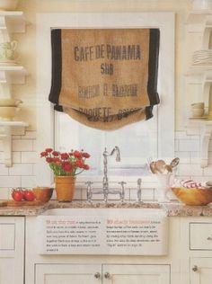 diy window treatments | Vintage repurposed window chalkboard and burlap covered by dudads, $65 ...