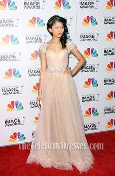 Zendaya Coleman Prom Dress NAACP Image Awards 2012 Red Carpet Celebrity Dresses