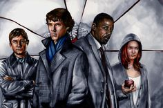 Wow!  My favorite BBC characters in one painting.  Bloody brillant!