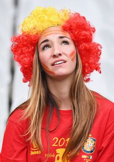 #EURO2016 Spain supporter is seen prior to the UEFA EURO 2016 round of 16 match between Italy and Spain at Stade de France on June 27 2016 in Paris France