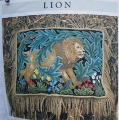 New Beth Russell William Morris Cushion Tapestry needlepoint kit from Designers Forum: Greenery Deer from the Greenery series. Full… Needlepoint Pillows, Needlepoint Kits, Tapestry Kits, William Morris, Greenery, Deer, Medieval, Cross Stitch, Designers