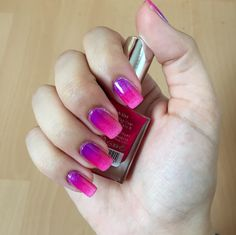 Ombre nails purple and Pink