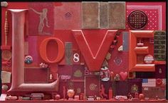 Love by Peter Blake, one of six works donated to the nation by Frank and Lorna Dunphy. Arts And Crafts Storage, Arts And Crafts Furniture, Peter Blake, Roy Lichtenstein, Andy Warhol, Beatles, History Of Illustration, James Rosenquist, Pop Art