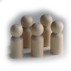 5 x 6cm Boy Peg Doll, Peg People, Waldorf Toys, Little People Dad, Cake Topper, Wood Peg, Craft Supplies