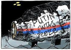 Карикатура дня: Официальная презентация Надпись на остатках Боинга «Путин был здесь». BY JOS COLLIGNON, POLITICALCARTOONS.COM