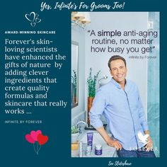 Yes, Infinite Advanced Skincare is as much for your groom as it is for you! Both women and men are simply loving it and its effects on our skin. Clicking the Slideshare link will help you get our reasoning! #naturalskincare