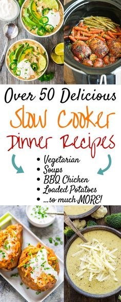 The best easy healthy slow cooker recipes! These crockpot meals are perfect for your fall dinner. Inexpensive family meals for kids and adults. These cheap and simple clean eating meals for your Crockpots include soup, chicken, vegetarian, beef, Asian, Thanksgiving, and more! #slowcooker #slowcookerrecipes #crockpot #crockpotrecipes #slowcookersoup #slowcookerchicken