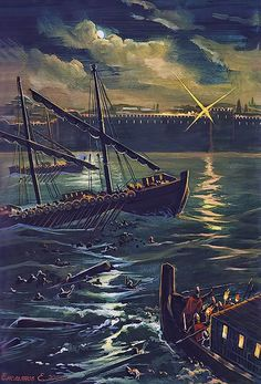The siege of Constantinople by the Avars in the Gulf of the Golden Horn, August 7, 626