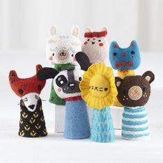 Kids' Stuffed Animals: Finger Puppet Theater in Little Kid Gifts $25- $50