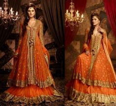 Stunning Bridal Wear Mehndi Dress ideas 2014 for Brides   StylesGlamour.com