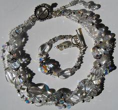 Triple crystal twist choker  #swarovksi #crystal #ladamidesigns Chokers, Charmed, Crystals, Bracelets, Jewelry, Design, Fashion, Moda, Jewlery