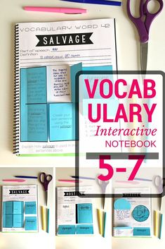 Vocabulary Interactive Notebook for grades 5-7