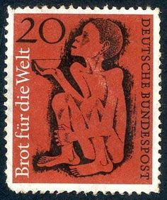German Federal Republic, Michel XF. Bread for the world, without the overprint specimen, from the to the destruction certain stocks, without gum, perforation fault see photo, photo expertize Schlegel