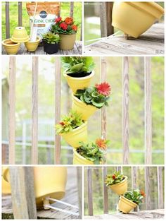HOw to make beautiful stacked flower pot step by step DIY instructions ♥ ❤♥ ❤How to, how to make, step by step, picture tutorials, diy instructions, craft, do it yourself