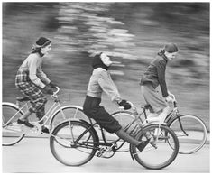 The bicycle riders 1946 NYC | © Pleasurephoto Room Fall Is Coming, Old Photography, Fall Collections, Bicycle, Product Launch, Nyc, Black And White Photography, Instagram, Blanket
