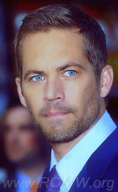 Paul Walker.  Those eyes are the window into a wonderful soul. R. I. P.