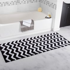 Chevron Chocolate Bathroom Mat With Transparent Antiskid Spray Stunning Black And White Bathroom Rugs Inspiration