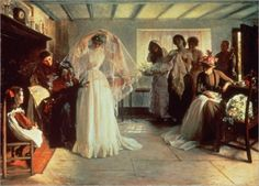 """THE WEDDING MORNING"" by John Henry Frederick Bacon"