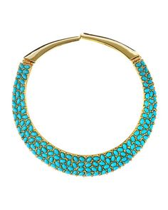 Turquoise Cabochon Collar Necklace