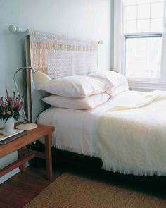 fabriquer une tête de lit idée avec textile