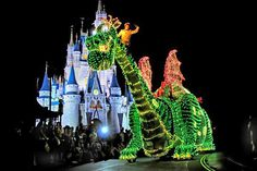 Pete's Dragon in the Main Street Electrical Parade at Magic Kingdom in WDW.