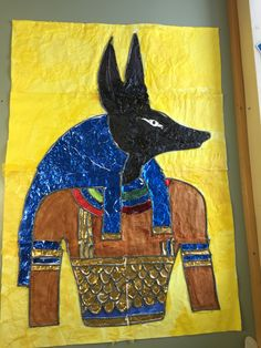 Collaborative collage of Anubis