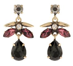 Martine Wester - COSMIC CRYSTAL DROP EARRINGS IN BURGUNDY, £27 (http://martinewester.com/products/cosmic-crystal-drop-earrings-in-burgundy.html)