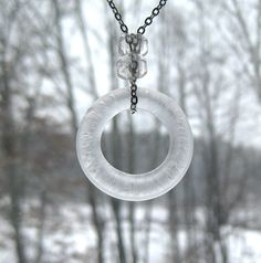Eco Friendly Bottle Top Glass Pendant  by LttleEvrydyCreations, $17.79