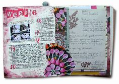 The Chronicles of Marit 2012 - week 16 - left page by Marit's Paper World, via Flickr