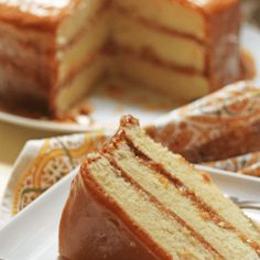 caramel cake featured image Food Cakes, Cupcake Cakes, Cake Icing, Just Desserts, Delicious Desserts, Yummy Food, Southern Desserts, Dessert Healthy, Healthy Cake