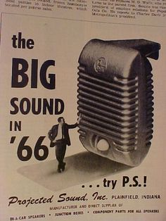 1Ad for 966 Speaker for Drive In Movie Theaters!