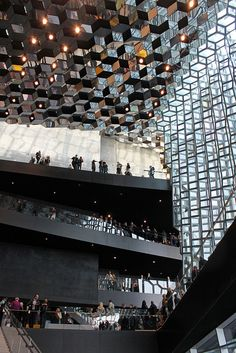 Harpa, the new concert hall/opera in Reykjavik, Iceland