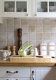 Designer Dad Studio: Kitchen Backsplash Makeover : With Paint