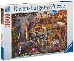 Ravensburger – 17037 – Puzzle – Animaux du Continent Africain – 3000 Pièces: Descriptif produit : Pour les puzzleurs entraînés.Assemblez…