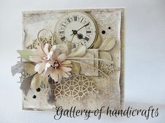 Gallery of handicrafts, Card with flowers