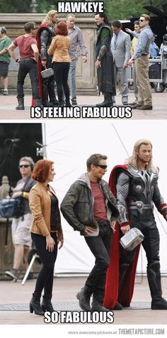 Funny pictures about Jeremy Renner is feeling fabulous. Oh, and cool pics about Jeremy Renner is feeling fabulous. Also, Jeremy Renner is feeling fabulous. Avengers Humor, The Avengers, Funny Marvel Memes, Dc Memes, Marvel Jokes, Funny Memes, Hilarious, Hawkeye Avengers, Loki Meme