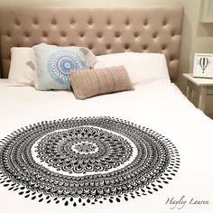 Put a little zen back in the bedroom and decorate with mandalas. This Eastern designs act as a meditation and add great boho accent to any home. Find more on Redbubble.