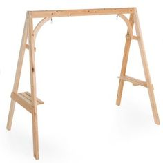porch swing a-frame with shelves