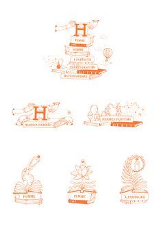 Perfume on Behance Hermes Parfum, Circus Birthday Invitations, Fashion Sketches, Illustration Art, Illustrations, Web Design, Behance, Perfume, Black And White