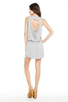 Just in @ Magazine! Grey Jersey Cha Sor Drawstring Minidress!