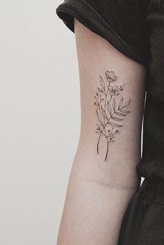 White Flower Tattoos, Black And White Flower Tattoo, Black Tattoos, Tattoo Flowers, Black Flowers, Cute Tattoos, Beautiful Tattoos, Small Tattoos, Tattoos For Guys