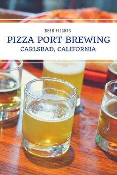 Pizza Port Brewing in Carlsbad, California. In a region known for outstanding craft beers, Pizza Port Brewing stands atop of the rest with craft beers that have racked up over 90 Great American Beer Festival medals. Belly up to the bar with me and let's e Beer Brewing, Home Brewing, Fun Cocktails, Fun Drinks, Pizza Port, Beer Tasting Parties, Beer Decorations, British Beer, American Beer