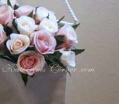 shabby chic bag filled with roses