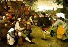 "Pieter Brueghel The Kermess oil on canvas 45"" x 64.5"" (1567-8)"