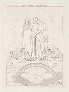 After John Flaxman 'Faith, Hope and Charity', 1807