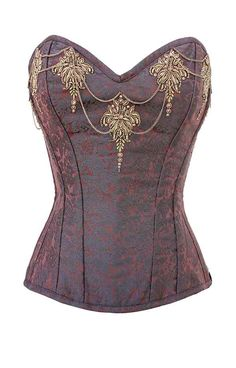 Brocade Tapestry Steel Boned Steampunk Couture Corset