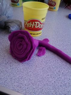 Flower made out of Play-Doh
