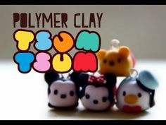Disney Tsum Tsum 4 in 1 polymer clay charms tutorial